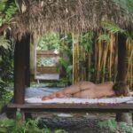 Beautiful nude boudoir photo of woman outdoors in Bali