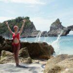 Swimsuit model Nusa Penida Bali