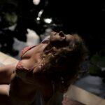 Sexy photo of woman in bikini in Bali